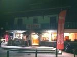 22h45, arrivée à Morzine. Le bar QG du magazine Bike.